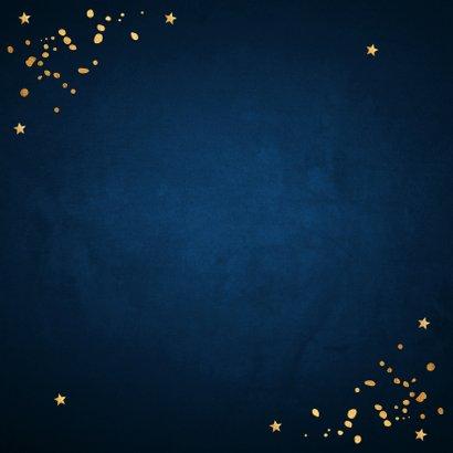 Kerstborrel uitnodiging rendier goudlook confetti  2