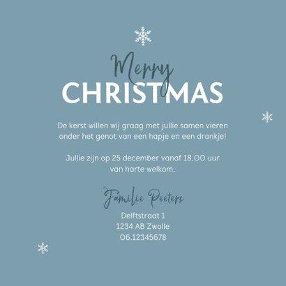 Kerstborrel uitnodiging stijlvol winter pastel blauw 3
