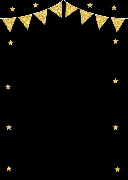 Kerstborrel uitnodiging typografie goud sterren 2