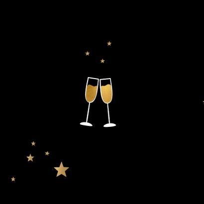 Kerstborrel zwart goudlook champagne 2