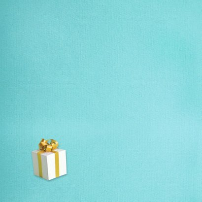 Kerstcadeautjes fotorand turquoise 2