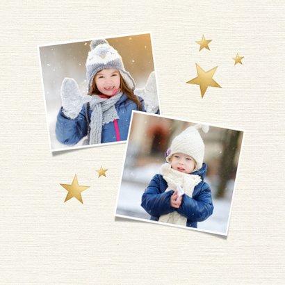 Kerstcollage met 6 foto's en goud 2