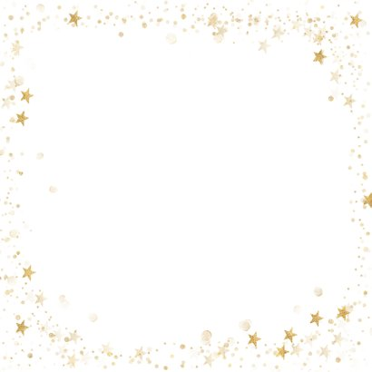 Kerstcollage met 6 foto's en goud Achterkant