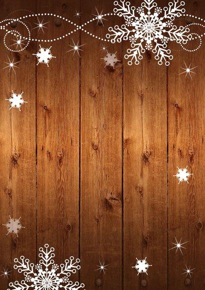 Kerstdiner hout sneeuwvlokken 2