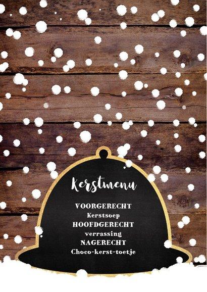 Kerstdiner originele winterse uitnodiging  2