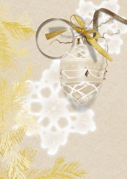 Kerstdiner uitnodiging 2 goudlook 2