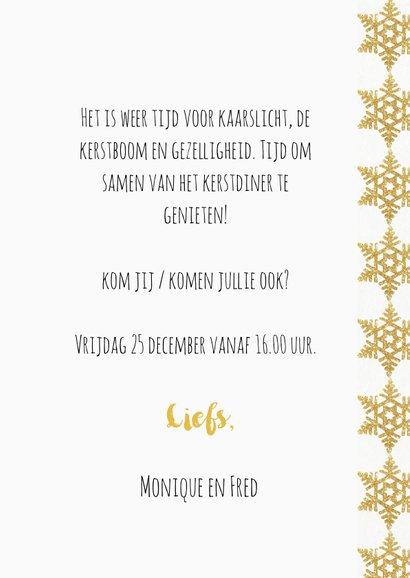 Kerstdiner uitnodiging 4 gouden ijskristallen 3