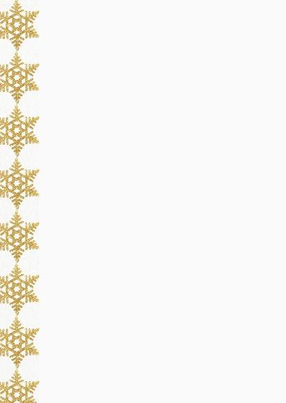 Kerstdiner uitnodiging 4 gouden ijskristallen Achterkant