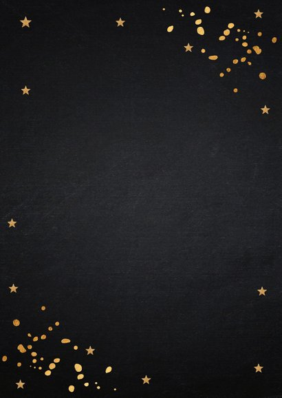 Kerstdiner uitnodiging goud confetti 2