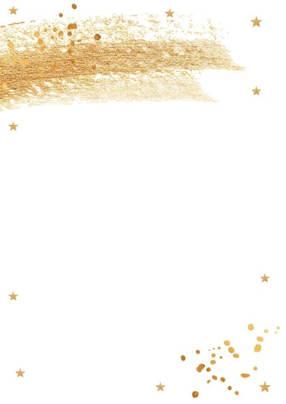 Kerstdiner uitnodiging goudlook confetti brush 2