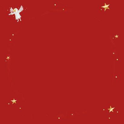 Kerstdiner - uitnodiging met engeltjes Achterkant