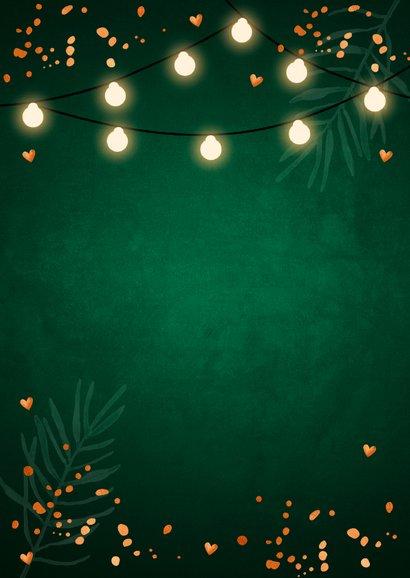 Kerstdiner uitnodiging donkergroen koper 2
