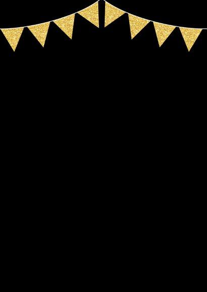 Kerstdiner uitnodiging typografie slinger goud 2