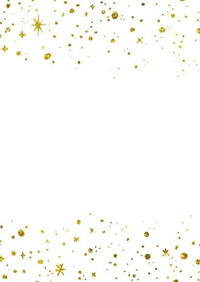 Kerstkaart 2019 Goud letters groot 2