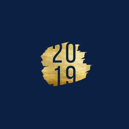 Kerstkaart '2019' met goudaccent 2