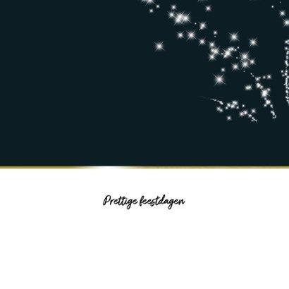 Kerstkaart 2019 met sterretjes vuurwerk 2