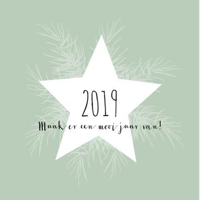 Kerstkaart 2019 ster en takjes-IP 2