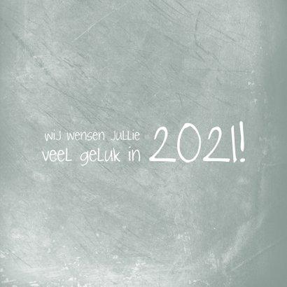 Kerstkaart 2020-2021, foto groot met kader van kristallen 2