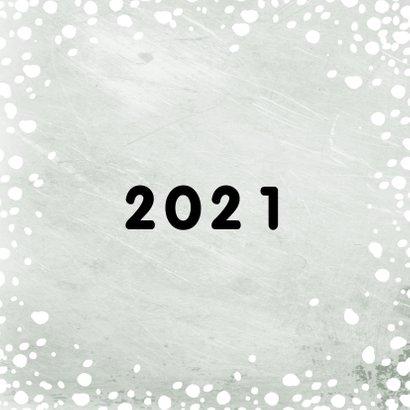 Kerstkaart 2020-2021, met grote foto en sneeuw 2