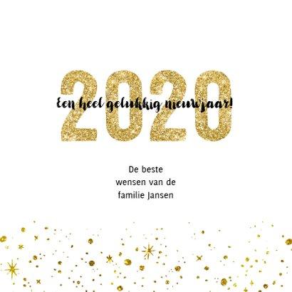 Kerstkaart 2020 Goud Glitter groot 3
