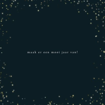Kerstkaart 2020, goudkleurige sterretjes en leuke typografie 3