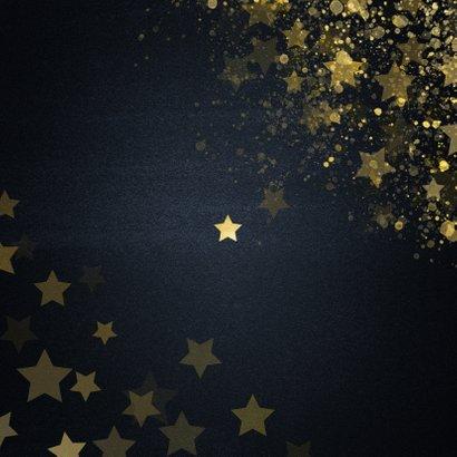 Kerstkaart 2020 wat een jaar met sterren Achterkant