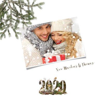 Kerstkaart 2020 winters bos 2