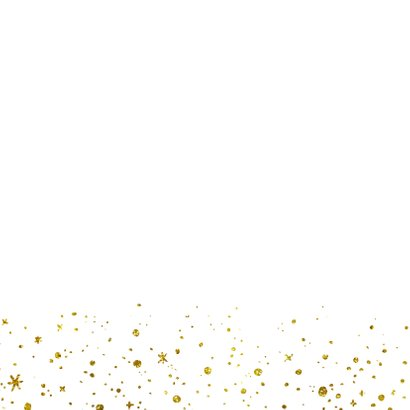 Kerstkaart 2021 Goud Glitter groot 2