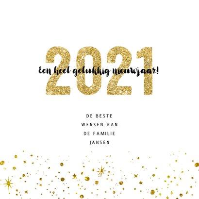 Kerstkaart 2021 Goud Glitter groot 3