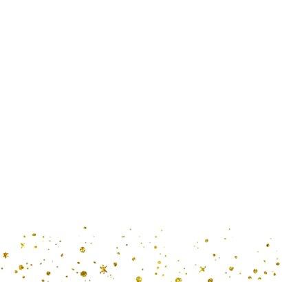 Kerstkaart 2021 Goud Glitter groot Achterkant
