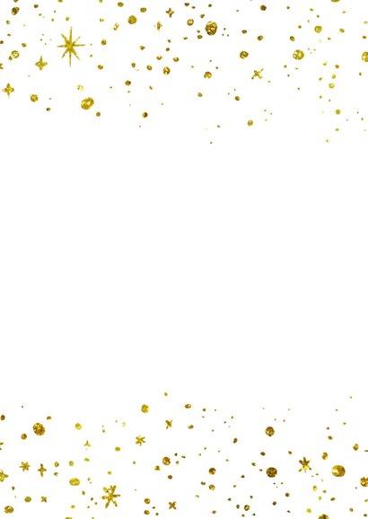 Kerstkaart 2021 Goud letters groot 2