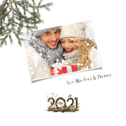 Kerstkaart 2021 winters bos 2