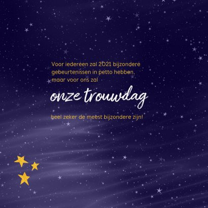 Kerstkaart 2021 wordt een buitengewoon bijzonder jaar 2