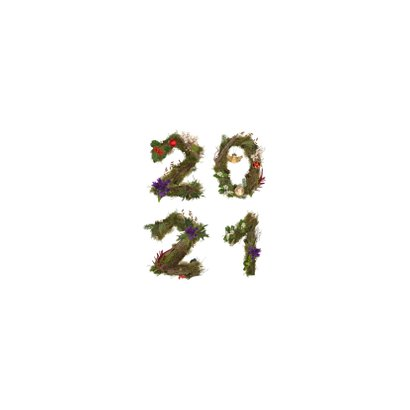 Kerstkaart 4x foto aan jute touw 2021 Achterkant