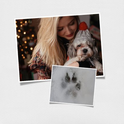 Kerstkaart als vierkante polaroid en aanpasbare tekst 2