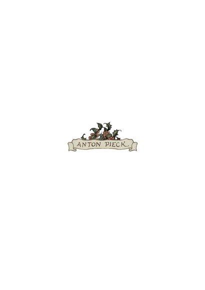 Kerstkaart - Anton Pieck illustratie postkoets Achterkant
