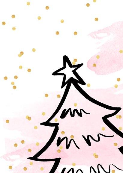 Kerstkaart aquarel confetti kerstboom 3