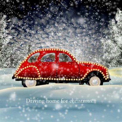 Kerstkaart auto in sneeuw 2020 RB 3