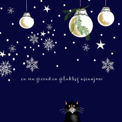 Kerstkaart beestenboel in kerstsfeer 3