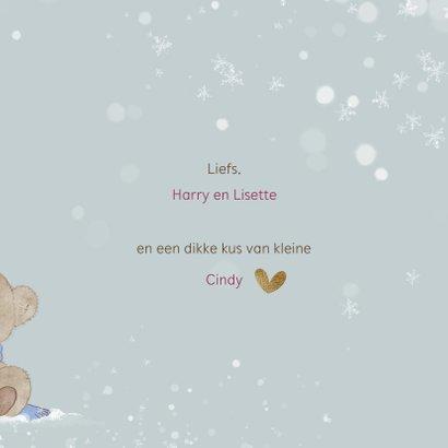 Kerstkaart beren in de sneeuw-baby's 1ste kerst 3