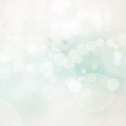 Kerstkaart blauw groen stempel watercolors Achterkant