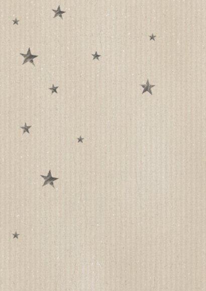Kerstkaart blauw hout sterren 2
