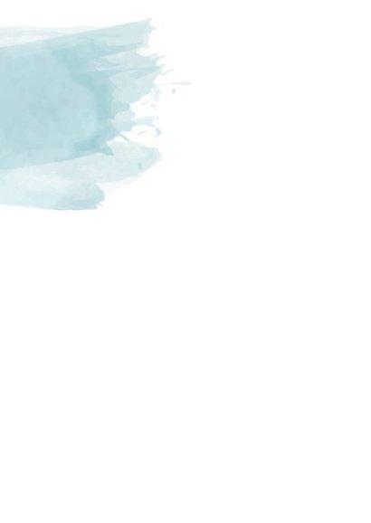 Kerstkaart blauwe waterverf en foto 2