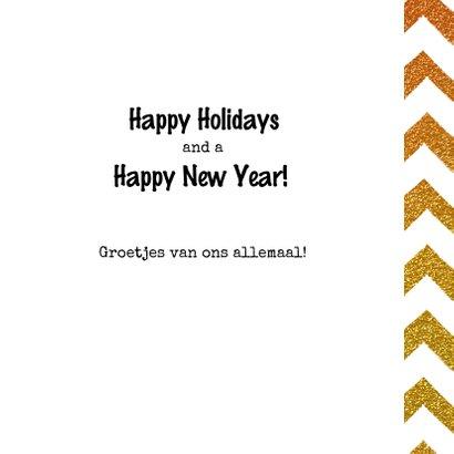 Kerstkaart bling bling Happy HoHoHo Holidays 3