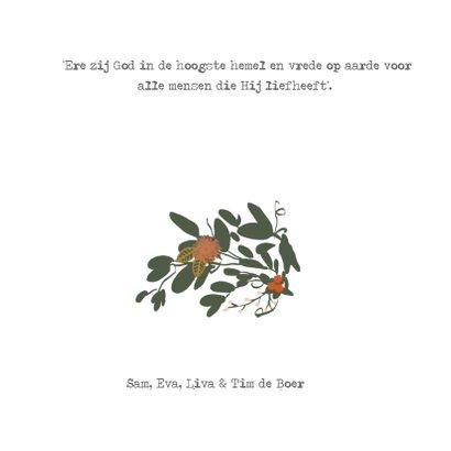 Kerstkaart bloemen vierkant -HM 3