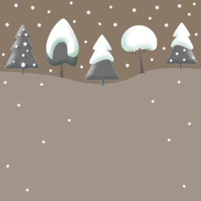 Kerstkaart - Bomen met kerst 2