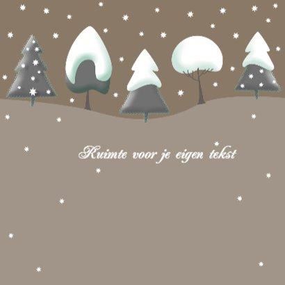 Kerstkaart - Bomen met kerst 3