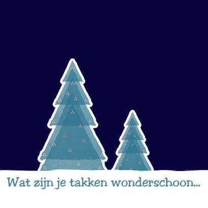 Kerstkaart Boompjes in sneeuw 2