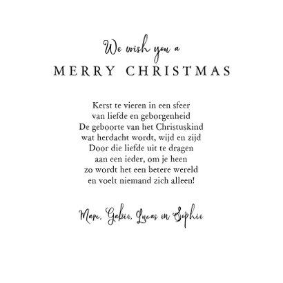 Kerstkaart Christelijk kerstboom Jezus krijtbord kalligrafie 3