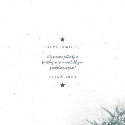 Kerstkaart christmas met kerstbomen en sneeuw 3